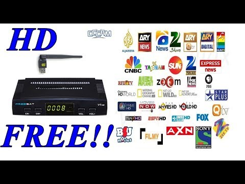 Cline Free HD satellite Reciever - 800+ HD FREE CHANNELS FOR LIFE TIME