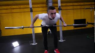 Barbell wide over hand bent over row