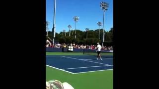US Open 2011 Opening Ivo Karlovic serve n volley