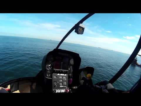 Jackup Rig Helicopter Ride