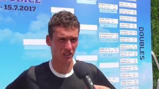 David Poljak po prohře ve 2. kole na turnaji Futures v Pardubicích