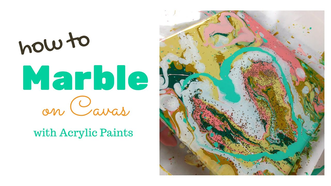 How to marble paint on canvas youtube