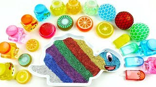 Mixing All My Slime Smoothie | Learn Colors Rainbow Slime for Kids | If You're Happy And You Know It