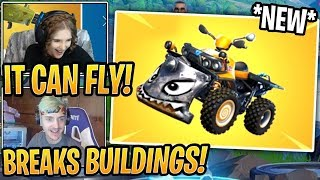 """Streamers React To *NEW* Vehicle! """"QUAD CRASHER"""""""