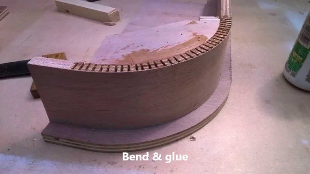 Hand Made Kitchen Curved Corner Cupboard Carcass Youtube