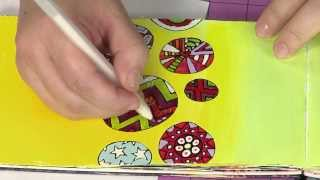 Art Journaling 101 - Patterns & Shapes With Shine & Dimension