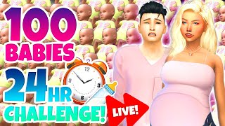 👶🍼 100 BABIES IN 1 DAY CHALLENGE🧡🍑