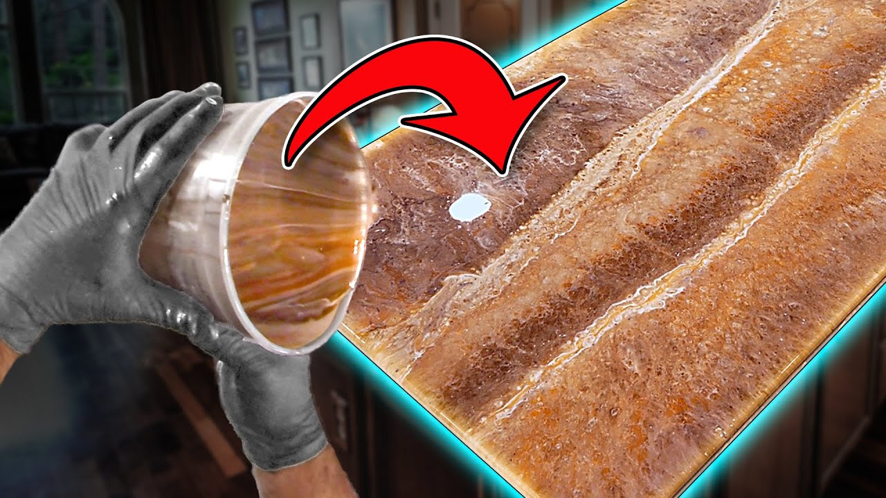 The Best Way To Cover Old Countertops: Make Rustic Granite With Epoxy | Stone Coat Countertops