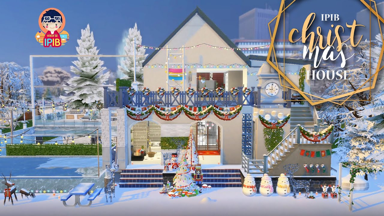 Christmas House: The Sims 4: Speed Build: NEW CC ! + Download Links