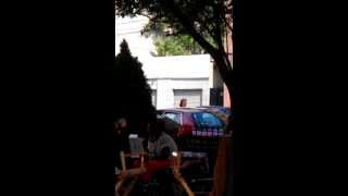 Hi Kate! Kathryn Erbe on set of LO:SVU episode Acceptable Loss in LIC 9-7-2012