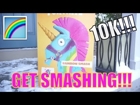 🌈 UNBOXING FORTNITE RAINBOW SMASH PICKAXE ROLEPLAY FROM MCFARLANE TOYS 🌈