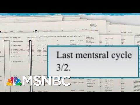 President Trump Admin Tracked Individual Migrant Girls' Pregnancies   Rachel Maddow   MSNBC