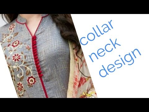 Churidaar collar neck design
