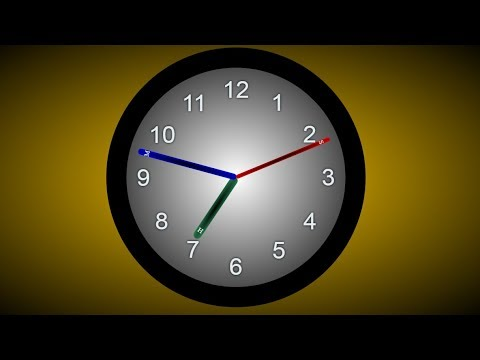 Animated Wall Clock Design using HTML CSS and CSS3