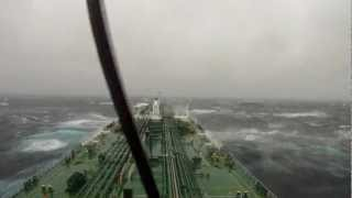 Greek tanker in storm