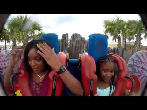 MUST WATCH: Woman's Wig Flies Off During Amusement Park Ride