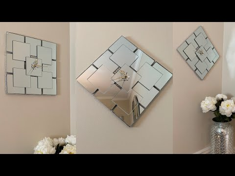 Dollar Tree DIY || Mirrored Wall Clocks