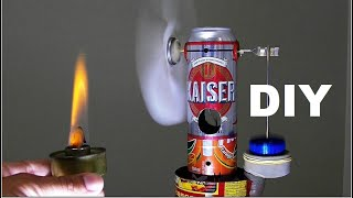Lacked electricity and is it hot? Make a home fan without electricity! Stirling engine TUTORIAL.