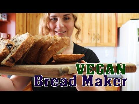 Vegan Cinnamon Raisin Bread Maker Recipe | Baking Vegan Bread