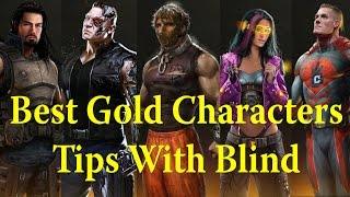 WWE Immortals - Best Gold Characters Tips & Tricks(WWE Immortals conversation with Blind, we talk about our favorite gold characters and review each gold and go over different tips and tricks. Check out Blind's ..., 2015-08-12T14:24:21.000Z)