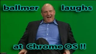 Steve Ballmer laughs at Google