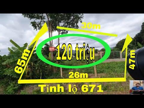 Lô đất 1,5 sào 330m2 thổ cư mặt tiền tỉnh lộ 671 tại xã Chư H Reng Tp Kon Tum 120 triệu