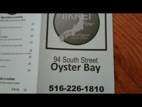OYSTER BAY NEW YORK - THE NIKKEI OF PERU MENU - 94 SOUTH STREET