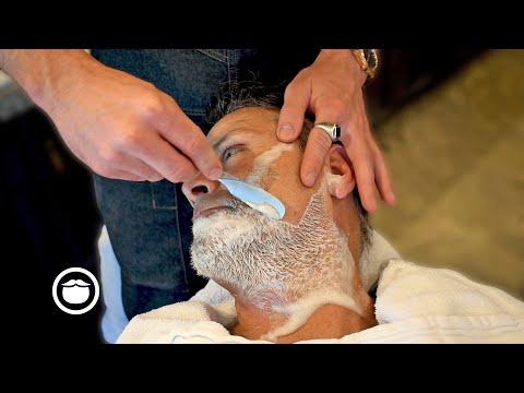 Relaxing Straight Razor Face Shave Tutorial | Garrett Michael Barbershop