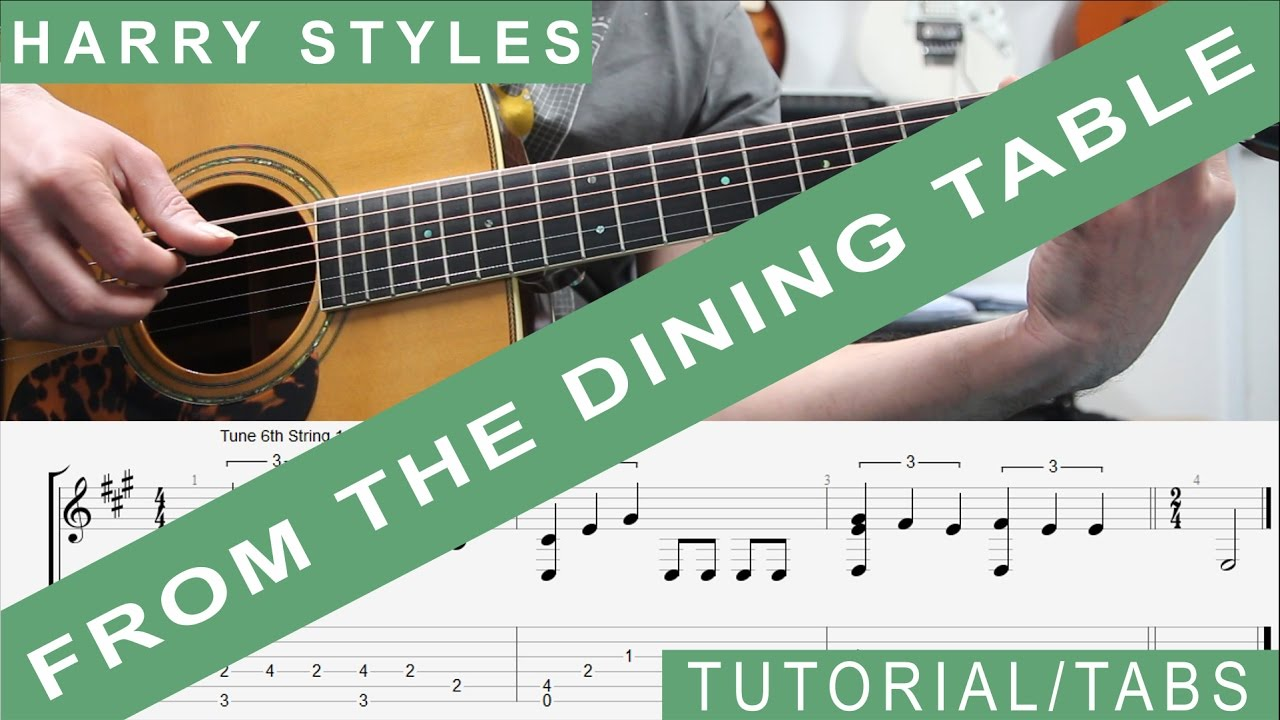 Harry Styles From The Dining Table Guitar Lesson TAB Tutorial