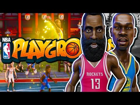 NBA Playgrounds - JAMES HARDEN AND KEVIN DURANT! (Gold Pack Opening!)