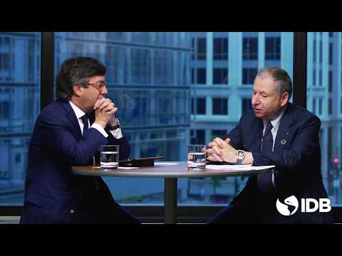 Jean Todt and Luis Alberto Moreno discuss road safety issues in Washington DC