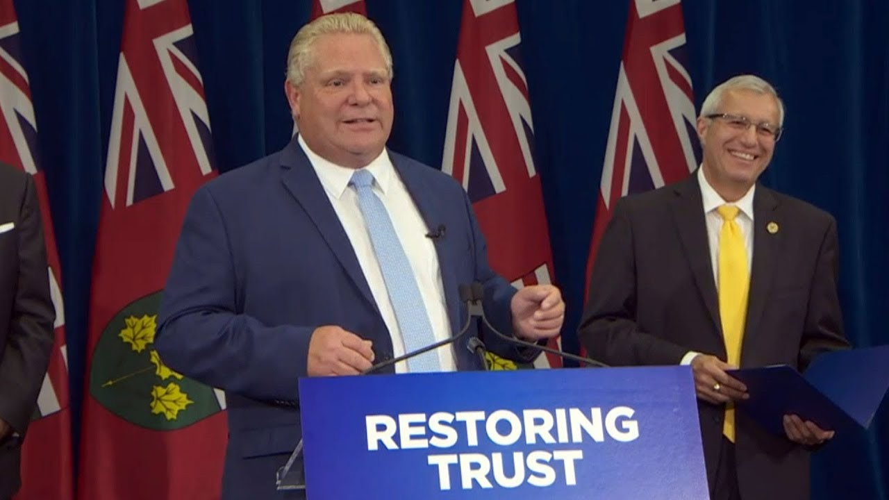 "Premier Doug Ford says Liberals ""cooked the books"""