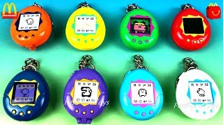 2019 McDONALD'S 40 YEARS HAPPY MEAL TAMAGOTCHI HAPPY MEAL TOYS FULL SET 8 BANDAI VIDEO GAME EGG 1998