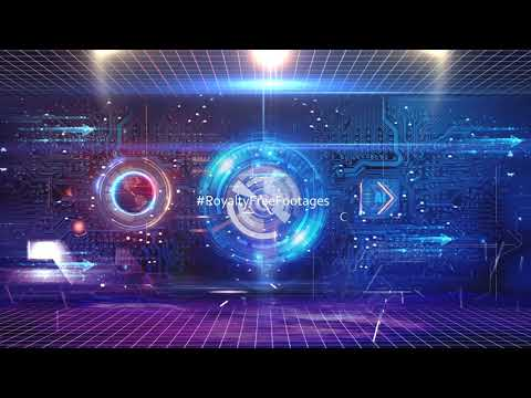 Artificial Intelligence Hi-Tech futuristic technology background video   Royalty Free Footages