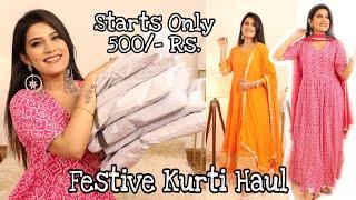 MEESHO Festive कुर्ती Haul | Affordable Kurti Haul | Super Style Tips