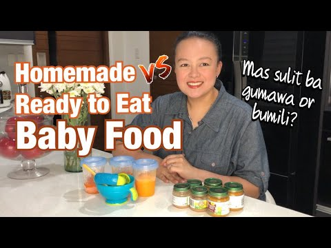 BABY FOOD COMPARISON Homemade and Ready To Eat Baby Puree | Nins Po