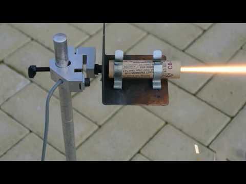 Solid Fuel Rocket Motor Demo for School Physics