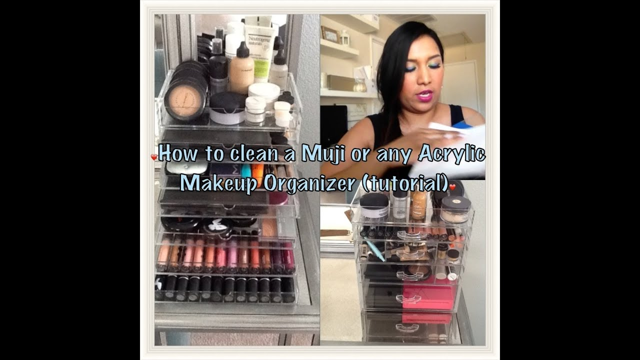 how to clean and remove scratches from a muji or any acrylic makeup storage tutorial youtube. Black Bedroom Furniture Sets. Home Design Ideas