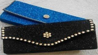 Glitter foam sheet clutch/purse/no sew glitter foam clutch