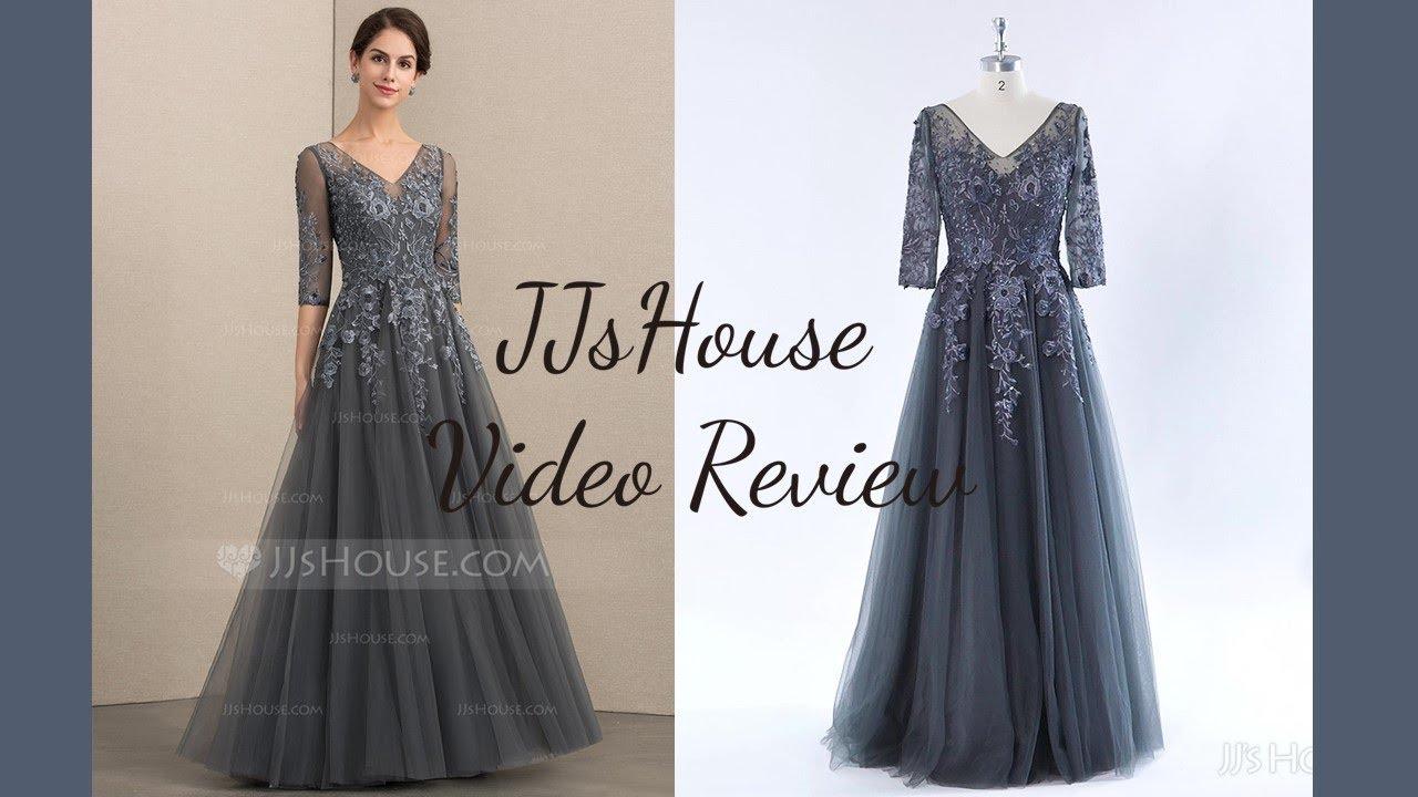 7cf788f47e5 Mother of the Bride Dress 152148丨A-Line V-neck Floor-Length Tulle Lace Dress  - JJ s House. JJ s House