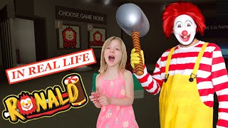 Escape Roblox Ronald in Real Life at My PB and J House! Villain Level 4