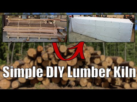 Simple Wood Drying Kiln