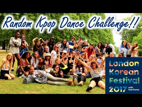 [In Public] Random Kpop Dance Challenge with London Korean F