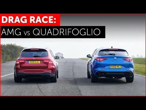 Mercedes-AMG GLC 63S Battles Alfa Romeo Stelvio QV In SUV Drag Race
