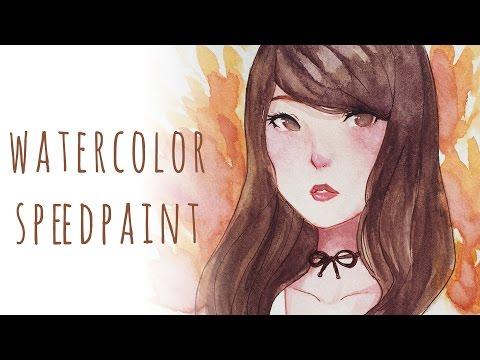 Watercolor Speedpaint   Girl Portrait