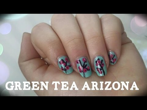 einfaches nageldesign f r anf nger und kurze n gel green tea arizona nails youtube. Black Bedroom Furniture Sets. Home Design Ideas