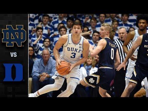 Notre Dame vs. Duke Basketball Highlights (2017-18)