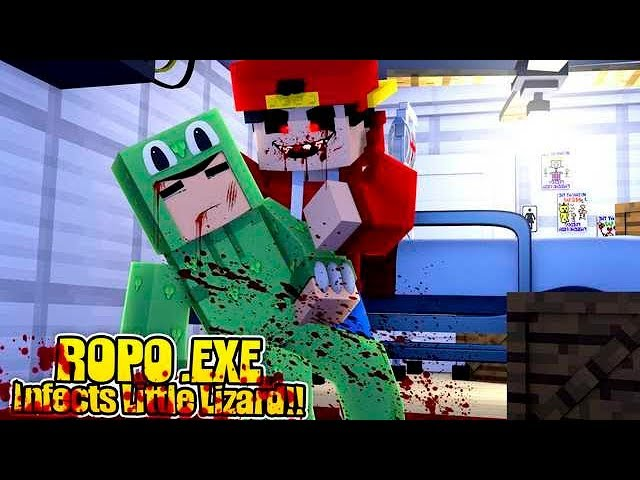 Minecraft .EXE - ROPO .EXE INFECTS LITTLE LIZARD!!!