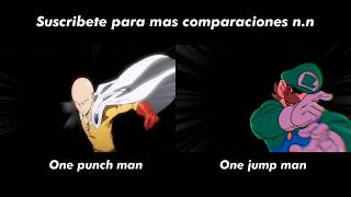 One Punch Man V.S One Jump Man - COMPARATION
