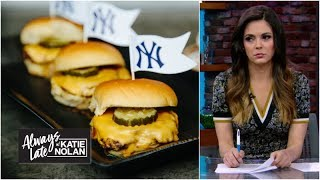 Gambar cover The history and hazards of ridiculous ballpark food   Always Late with Katie Nolan